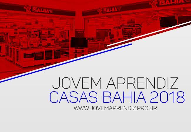 c275bf384 JOVEM APRENDIZ CASAS BAHIA 2018 → Inscrições e Vagas