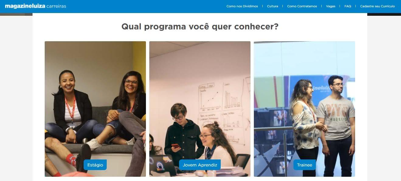 Inscrição Jovem Aprendiz Magazine Luiza 2020