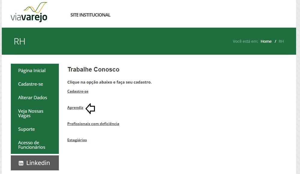 Inscrições Jovem Aprendiz Casas Bahia 2020