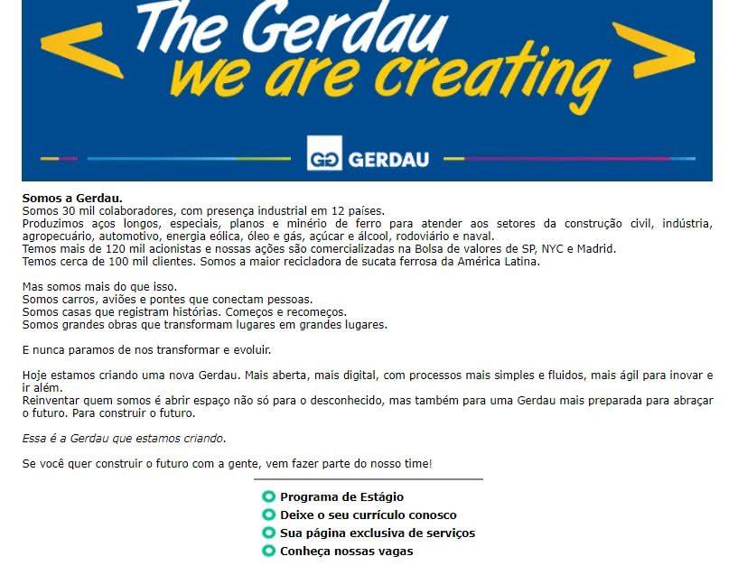 inscrições Aprendiz Legal Gerdau 2020